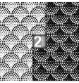 Halftone Petals Tiles Seamless Pattern Set of 2 vector image vector image