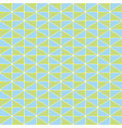 hand drawn lime green and blue geometric mosaic vector image
