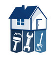 home repairs with a tool vector image vector image