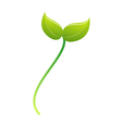 icon sprout vector image vector image