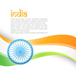 indian flag in wave style vector image vector image