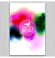 Ink blots invitation vector image vector image