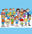 kids and teens cartoon characters group vector image
