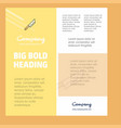 knife business company poster template with place vector image