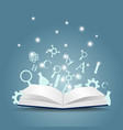 knowledge concept education vector image