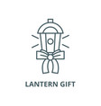 lantern gift line icon linear concept vector image vector image