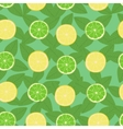 Lemon lime and mint leaves seamless pattern vector image