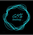 loading in the form of a hand drawn circle vector image vector image
