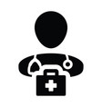 medical icon male doctor person profile avatar vector image