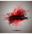 Modern geometric red background vector image vector image