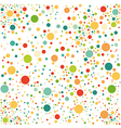 Multicolored spotted seamless pattern vector image vector image