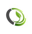 organic farming logo design idea good food for vector image