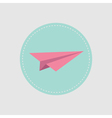 Origami paper plane icon Flat design vector image vector image