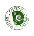 pakistan sign vintage grunge imprint with flag on vector image vector image