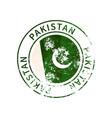 pakistan sign vintage grunge imprint with flag vector image