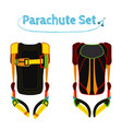parachute pack bright extreme sport equipment for vector image vector image