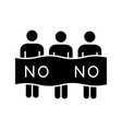 protest event glyph icon vector image vector image