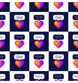 reinbow gradient color heart seamless pattern vector image vector image