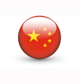Round icon with national flag of China vector image vector image