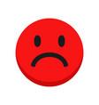 sad face emoji isolated on white background vector image