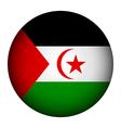 Sahrawi Arab Democratic Republic flag button vector image vector image