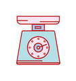 scale weight machine kitchen utensil vector image vector image
