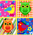 Seamless patchwork birds-2 vector image