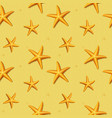 seamless pattern with starfish vector image