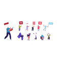 set people with different banners male female vector image