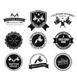 Set tattoo logos different styles