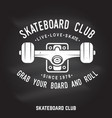 Skateboard club badge