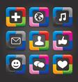social media buttons vector image vector image