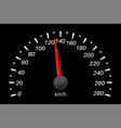 speedometer black vehicle gauge scale vector image