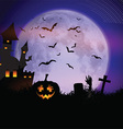 Spooky Halloween background vector image vector image