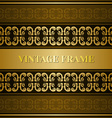 Vintage victorian golden card vector image vector image