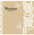 Wedding card invitation vector image vector image