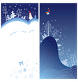 winter holiday greeting card vector image