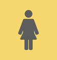 Woman Sign Icon vector image vector image