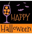 Happy Halloween invitation or greeting card vector image