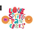 lettering composition love spring pancakes vector image