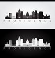 providence usa skyline and landmarks silhouette vector image