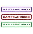 san francisco watermark stamp vector image