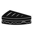 sandwich icon simple black style vector image