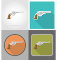 wild west flat icons 10 vector image