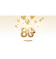 80th anniversary celebration background vector image vector image