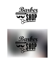 Barber Shop emblems or labels vector image vector image