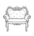 baroque furniture rich armchair handmade vector image vector image
