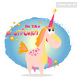 be like a unicorn vector image