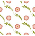 beautiful simple seamless pattern with floral vector image vector image