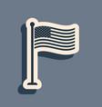 black national flag usa on flagpole icon vector image vector image